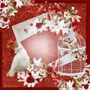 La colombe à la rose