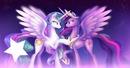 MLP princess Celestia and Princess Twilight Sparkle