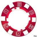 jeton poker rouge
