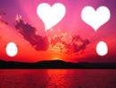 l'amour qu'est ce que c'est beau surtout sous un coucher de soleil