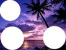 coucher de soleil violet