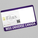 Miss Universe Canada Card