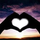 coeur au coucher de soleil