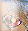 coração e flor