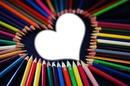 crayons coeur