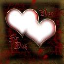 zwei zusammenschmelzende Herzen