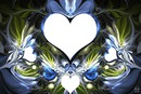 4 coeurs bleu photos