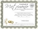 certificado de matrimonio con foto