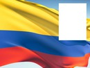 Colombia flag flying