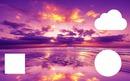 Ciel rose avec du jaune pink sky 3 cadres