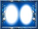 Cadre bleu de noël