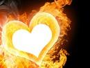 coeur en flamer de mille feu