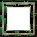 cadre noir vert