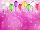 anniversaire ballon rose
