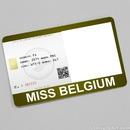 Miss Belgium Card