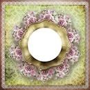 cadre fleurie romantique