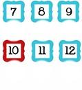 números 07 á 12