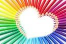 crayon de couleur coeur lol lol