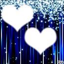 petit coeur sur fond bleu