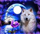 flor con lobo