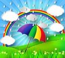 Wolken unterm Regenbogen