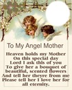 TO MY ANGEL MOTHER