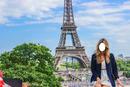 menina comun em paris