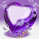 Cc corazón con detalles de flores