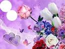 bouquet avec papillons 2 photos