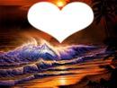 cœur sur coucher de soleil