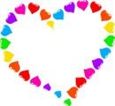coração arco iris