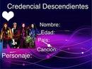 credencial de descendientes