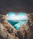 cuore nella roccia