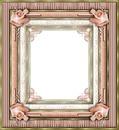 cadre rose romantique