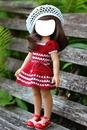 muñequita vestido rojo