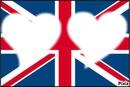 Drapeau de Londre en coeur