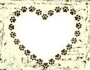Heart paw border