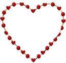 coeur perle rouge