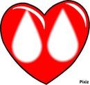 Coeur gouttes d'eau