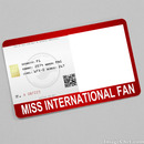 Miss International Fan Card