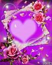 cadre coeur fleurs