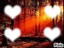 coeur couché de soleil