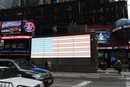 new york times square LED USA Fahne