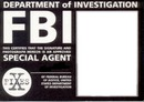 carte FBI..Xfiles