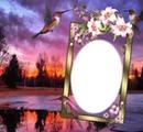 Cadre avec un oiseaux