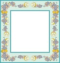 cadre bleu avec souris et gruyère 1 photo