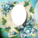 cadre photo aux fleurs