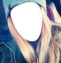 Blonde selfie