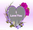 I Love You heart and roses