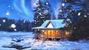 chalet en hiver